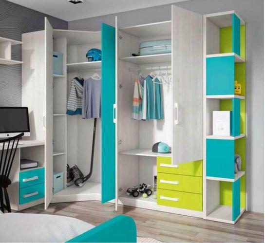 Dormitorios juveniles c mo acertar con la habitaci n de - Armarios esquineros juveniles ...