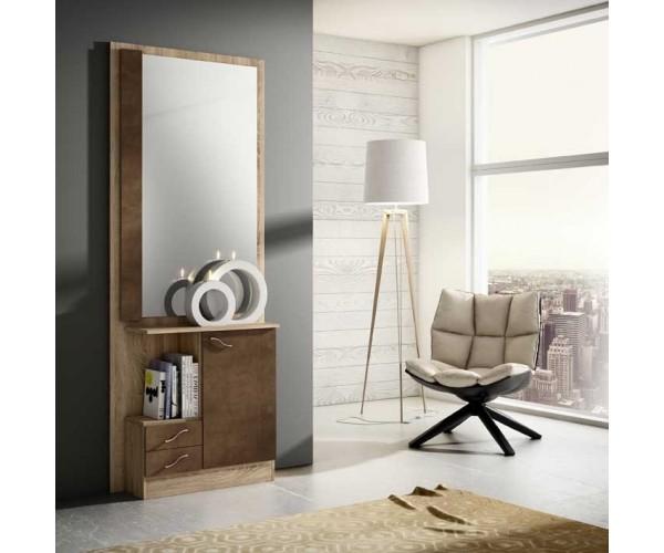 recibidor de diseo moderno acabado combinado en colores roble cambrian y xido with muebles de diseo online baratos