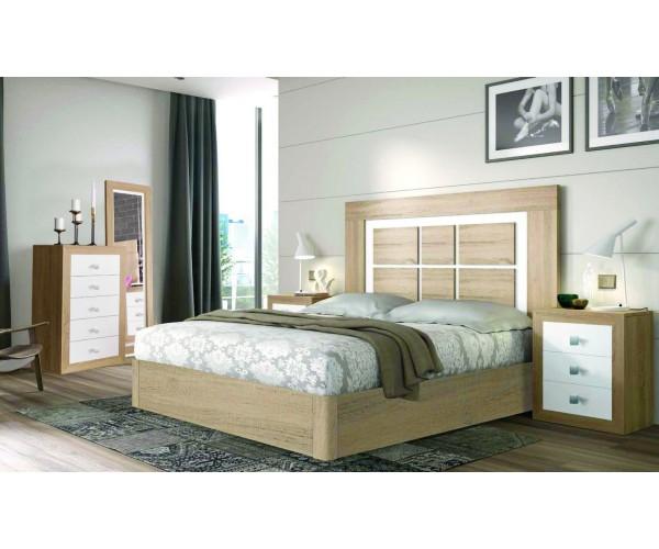 Conjunto dormitorio cabecero + 2 mesitas