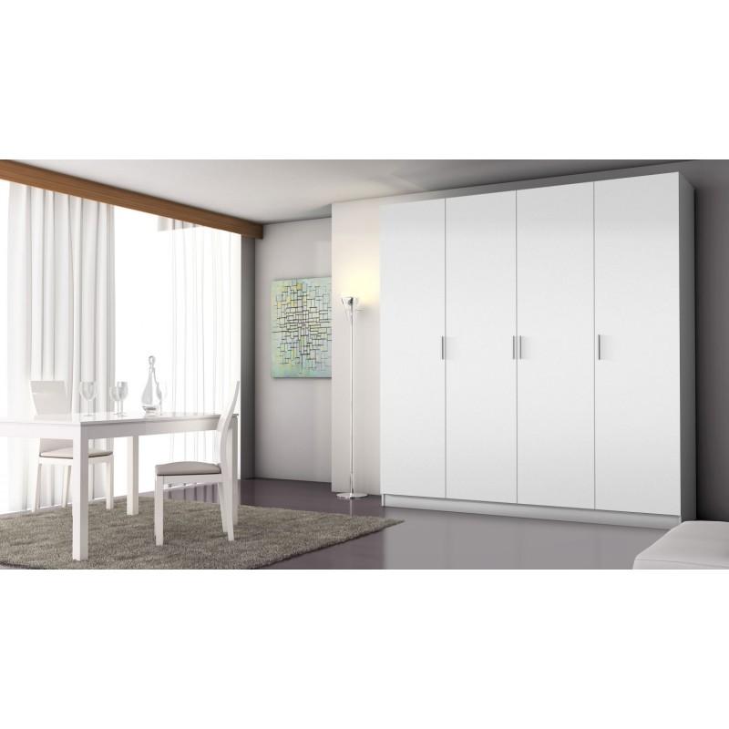 5338A Armario 4 puertas abatibles acabado color blanco.