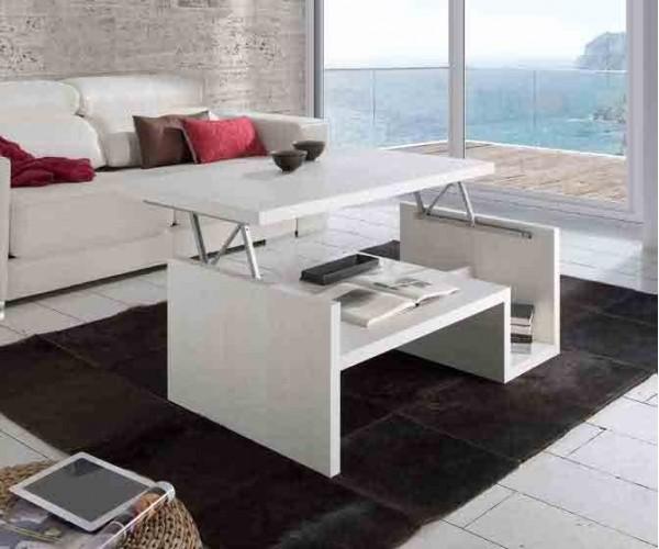 Mesa de centro elevable tapa madera