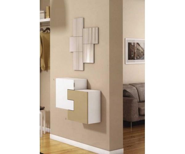 Recibidor colgado de diseño moderno con 2 puertas económico
