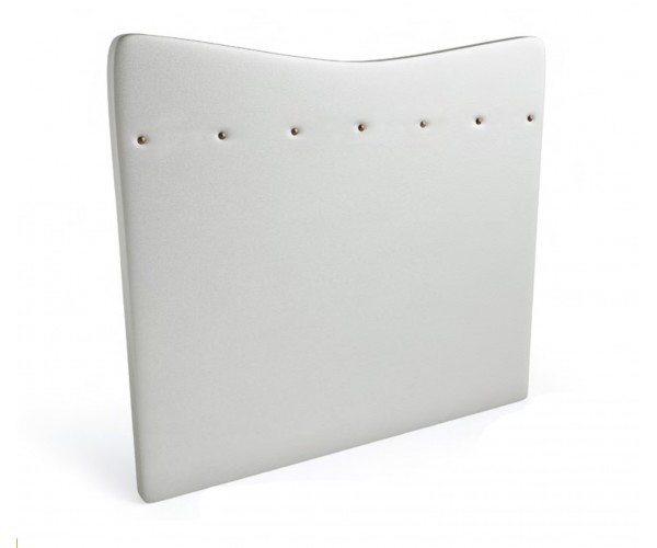 Cabecero polipìel serie Premium MyCube. Acabado polipiel blanca.