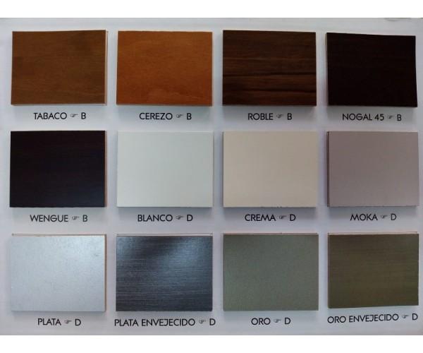 TOLEDO14 Apilable madera maciza 310 cm. lacado blanco.