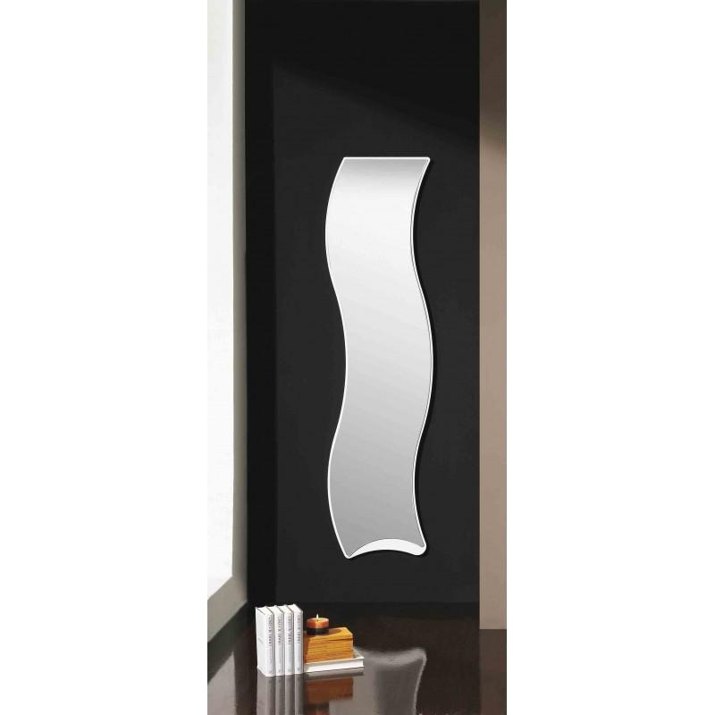 Espejo de dise o blanco espejo ondulado 45cm espejo moderno for Disenos de espejos