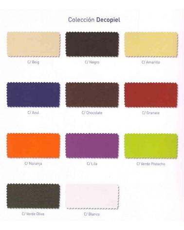 Carta colores tapicería polipieles.