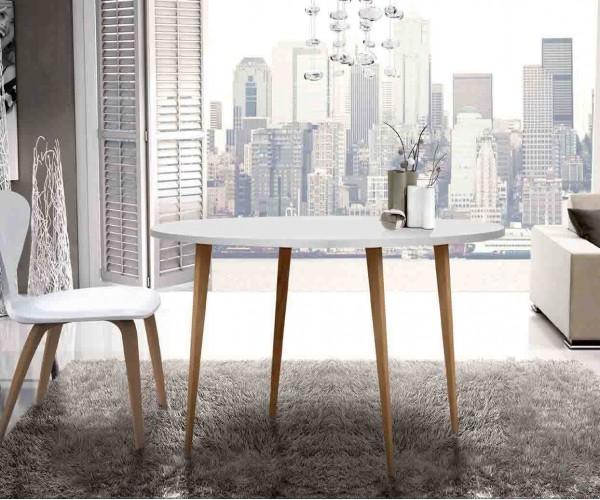 Mesa redonda económica 100cm diseño Nórdico