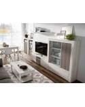 Apilable salón diseño nórdico 260 cm. Acabado combinado colores Ártico y Perkin.