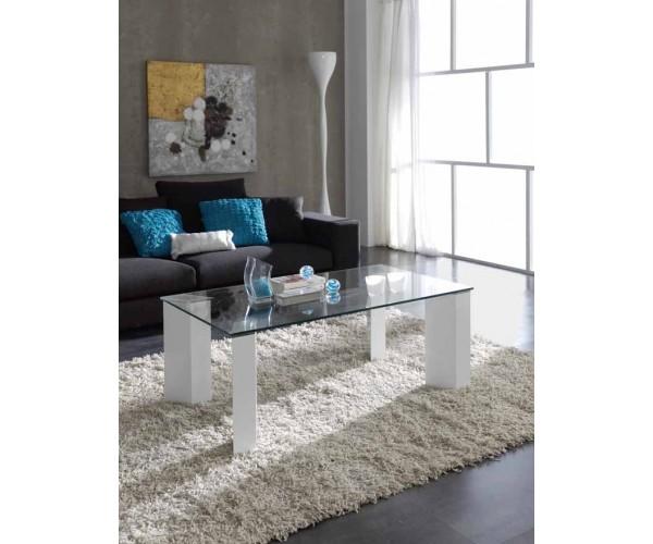 Mesa de centro de Diseño Cristal y Lacada