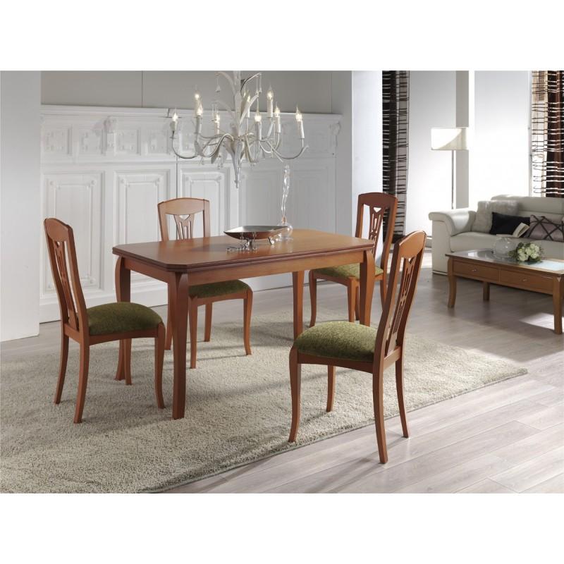 Mesa de comedor clásica,mesa 120x80cm,mesa comedor clásica extensible
