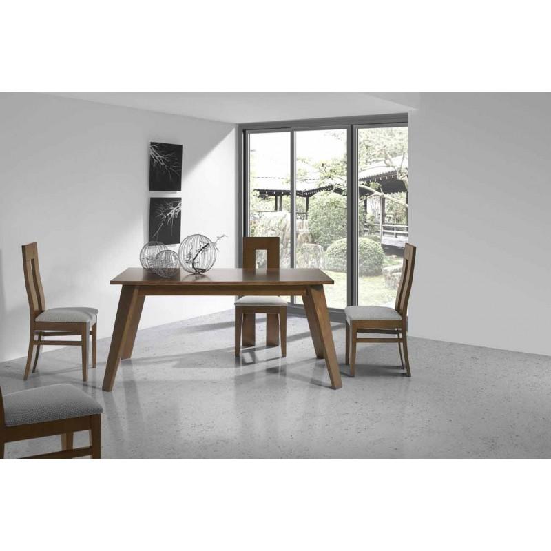 Mesa de comedor 160x90cm r stica mesa de comedor maciza for Mesas de comedor rusticas