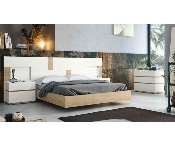 Dormitorio diseño actual buen precio con cabecero y dos mesitas