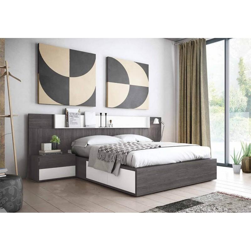 Dormitorio de matrimonio econ mico 245 cm muebles san for Diseno de muebles de dormitorio