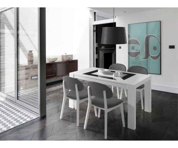 Mesa de comedor Blanca de 144x60cm