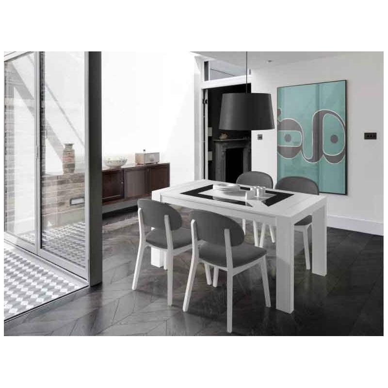 comprar mesa lacada blanca de diseño - Madrid - Muebles San Francisco