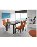 Mesa de comedor extensible color Wengue