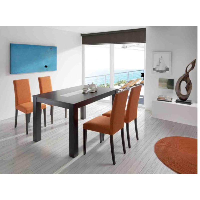 Mesa de comedor extensible Moderna Color Wengue
