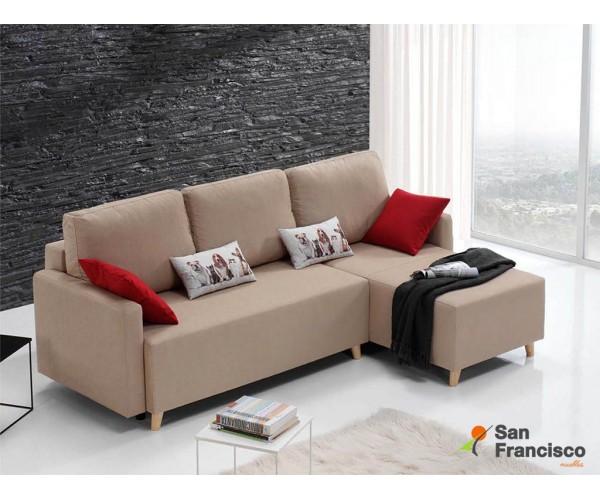 Fantástica chaise longue cama económica 245cm