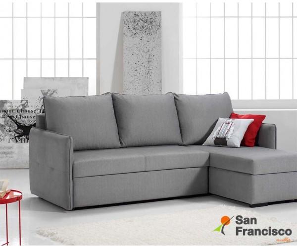 Chaise longue cama con arcón diseño actual económica 225cm
