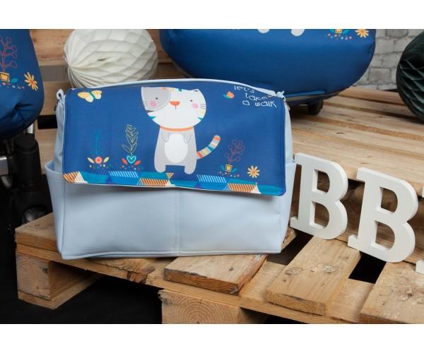 Bolso de Piel Kitty Azul