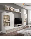 Apilable salón diseño moderno barato 275 cm acabado blanco nordic y vintage. Iluminación Leds opcional.