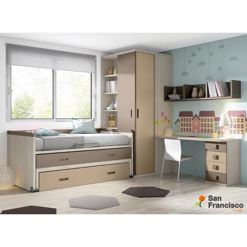 Comprar dormitorios y camas juveniles baratos muebles for Dormitorios juveniles modernos precios