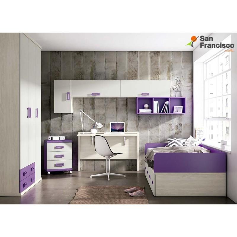 Comprar dormitorios y camas juveniles baratos muebles for Dormitorios ninos baratos
