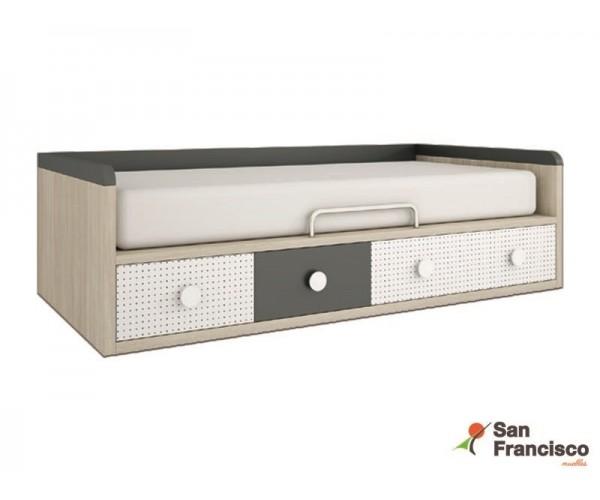 cama nido 4 contenedores gran capacidad 90X190cm