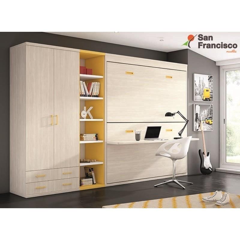 Comprar literas abatibles juveniles baratas muebles san for Cama doble precio