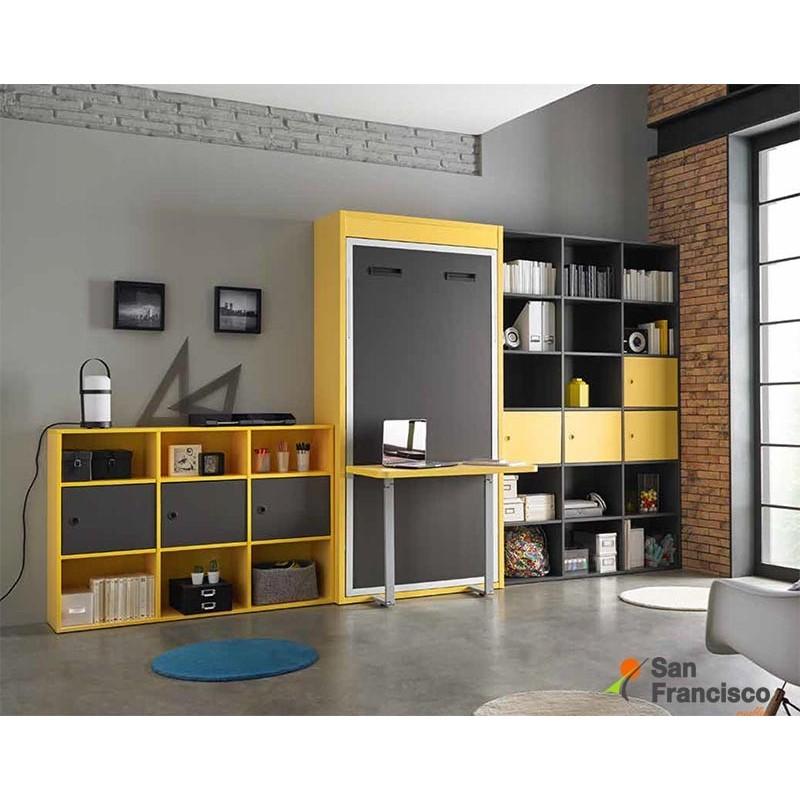 Camas abatibles baratas good cama horizontal abatible x for Muebles juveniles baratos