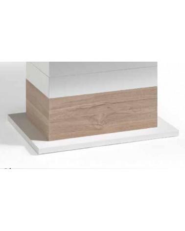 Mesa de centro 110x60cm elevable CHIC. Base acabada Blanco.