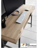 Mesa de estudio Moderna de 120cm Nogal-Blanco