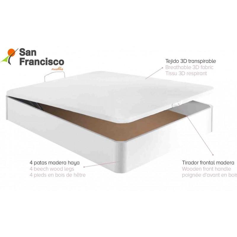 Canape abatible madera con tapa PLUS