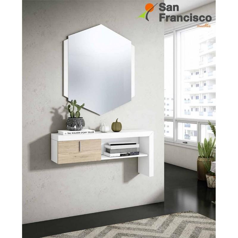 Recibidor pared 1 cajón y espejo buen precio