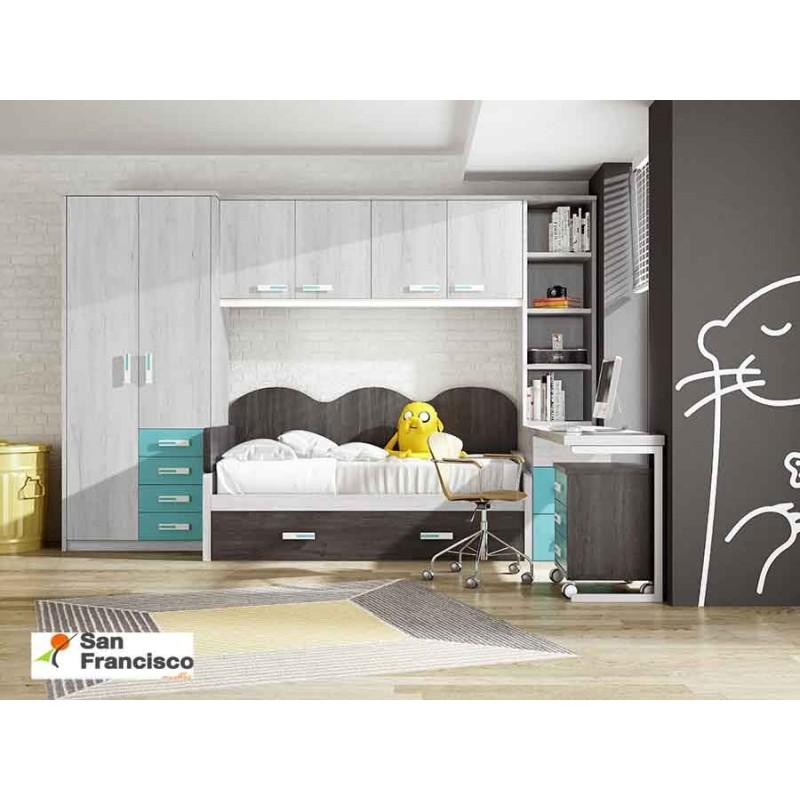 Comprar Cama Nido 90x190cm Mueble Juvenil Con Puente
