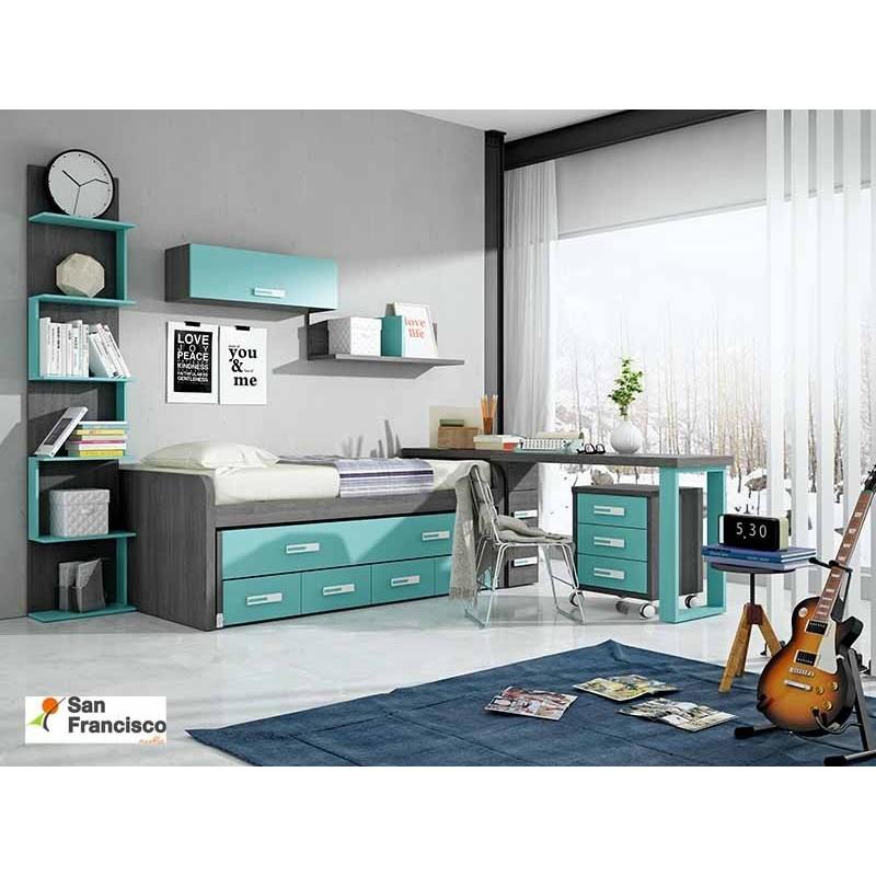 Comprar cama compacto de 90x190cm camas compacto de gama for Dormitorio juvenil cama alta