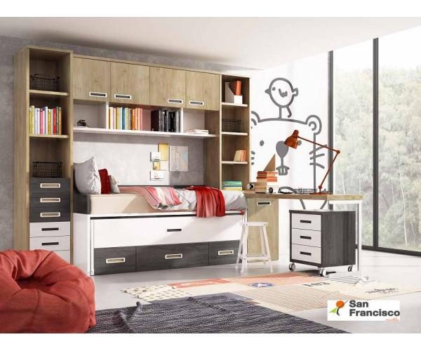 Dormitorio Juvenil gran Capacidad a media