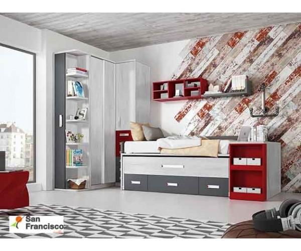 Dormitorio Juvenil con mesa extraible