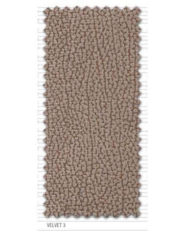 Sofá 2 plazas económico 140cm desenfundable tapizado microfibra lavable Velvet 3 Beige