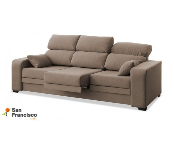 Sofá 3 plazas reclinable y extensible 220cm barato