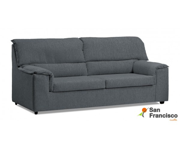 Sofá barato 3 plazas 165 cm desenfundable tapizado microfibra color Gris.