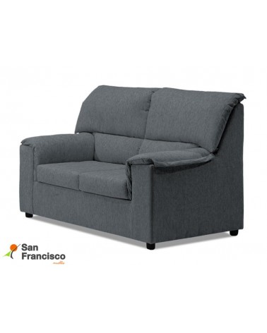 Sofá desenfundable barato 2 plazas 125cm tapizado microfibra color Gris.
