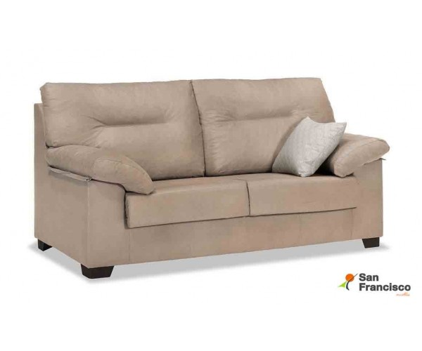 Sofá 3 plazas barato desenfundable tapizado microfibra Velvet 3 beige