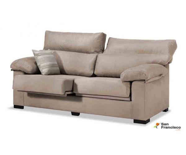 Sofá 2 plazas oferta 150cm desenfundable tapizado microfibra Beige