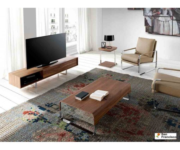 Mueble de Tv de 180cm Chapado en Nogal