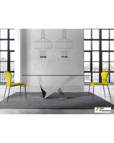 Mesa de comedor 180x95 cm de Cristal