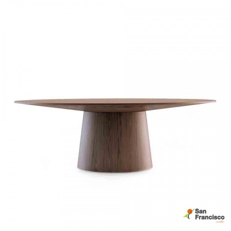 comprar mesa ovalada de comedor - mesa ovalada de comedor 220cm