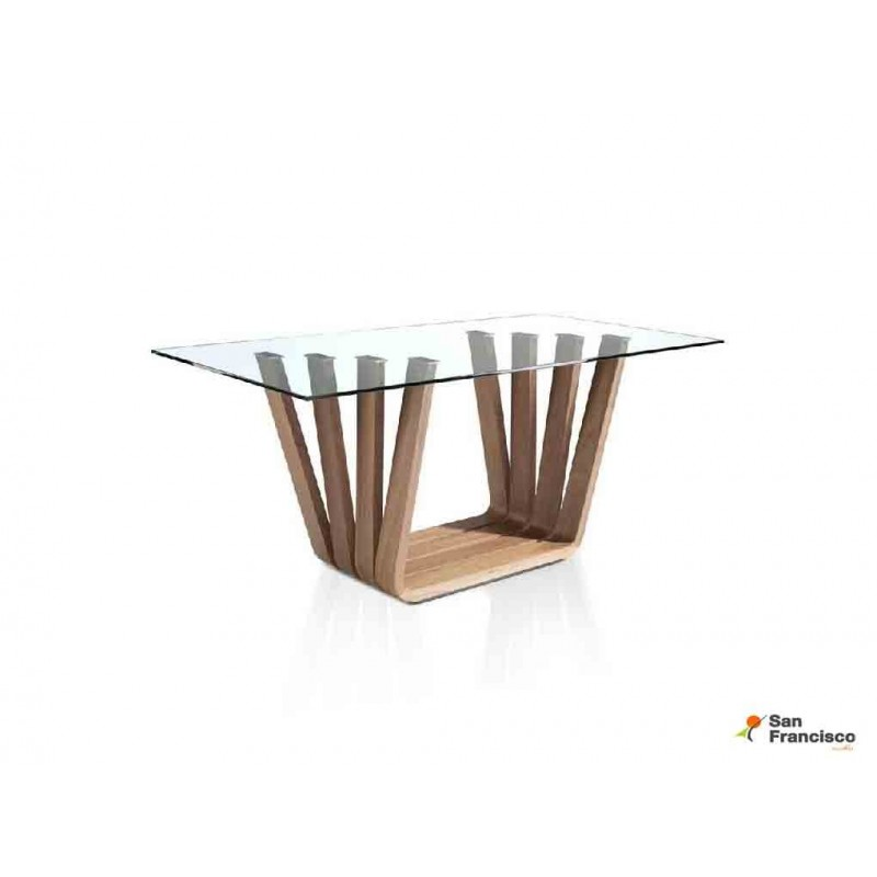 Mesa de diseño de 180 x 95 cm Transparente