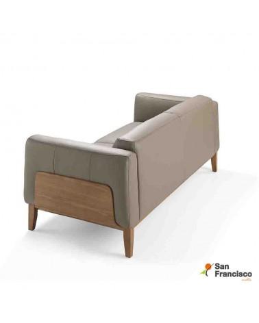 Sofa 3 plazas 209 cm tapizado en Piel