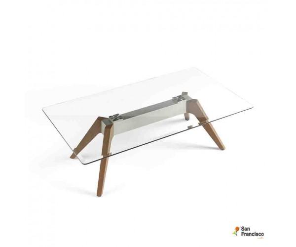 Mesa de centro de cristal de 140 x 80 cm